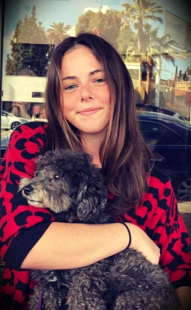 Duncan Trussell's wife Erin Trussell with her dog