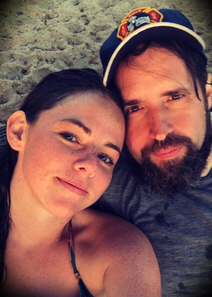 Duncan Trussell with his wife Erin Trussell