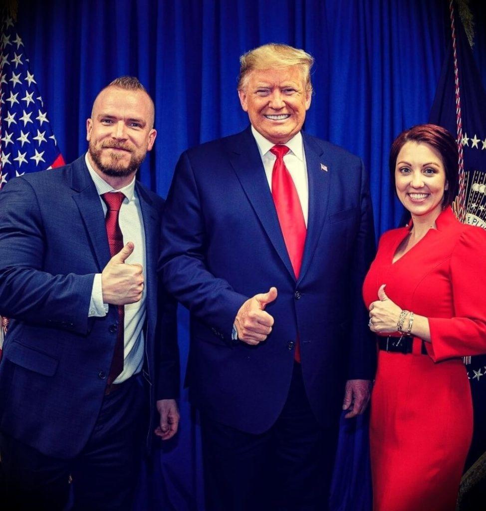 Graham Allen whith his wife Ellisa Allen alongside Donald Trump