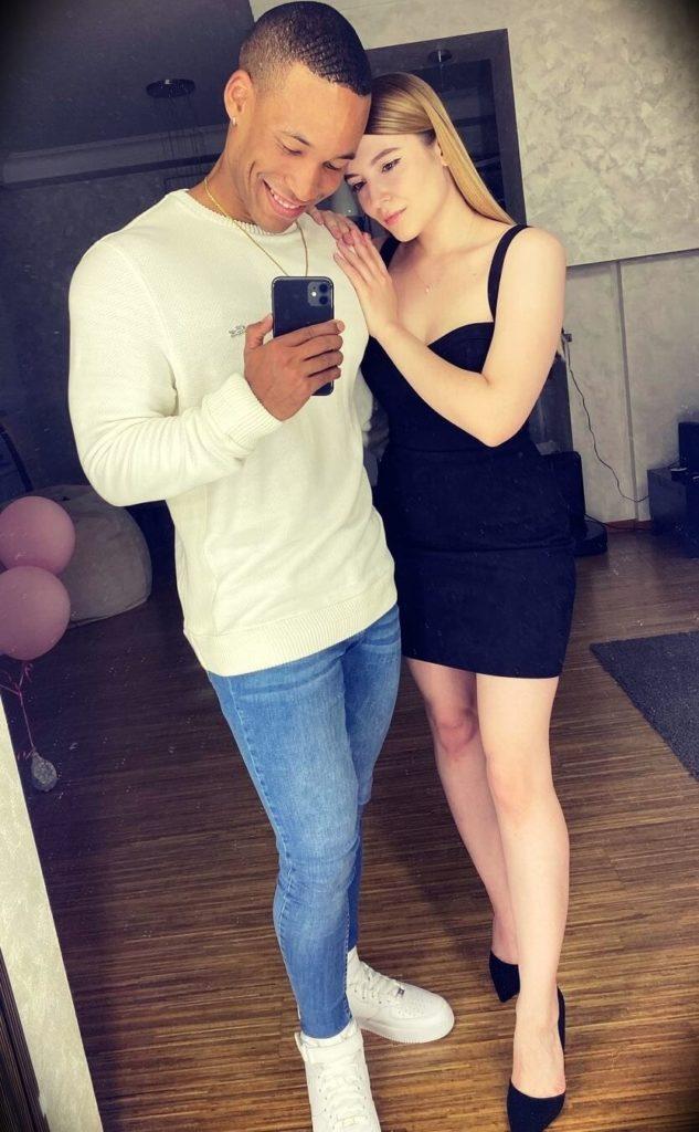 Mike Diamonds with his girlfriend Anastasia Klimenko