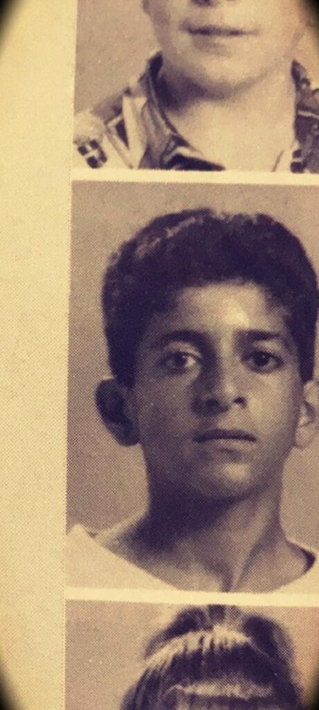 13 years old Patrick Bet-David in junior high school