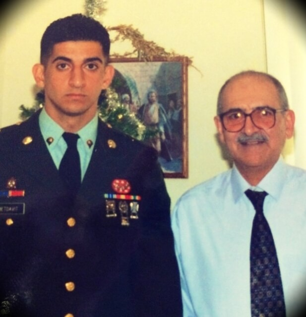 Patrick Bet-David alongside his father when he joined the military