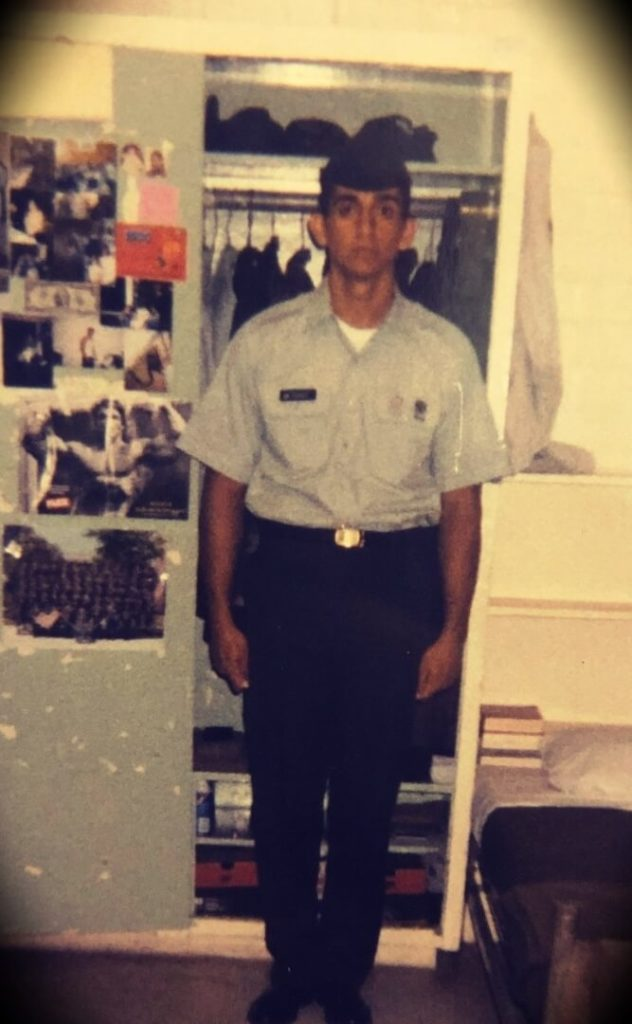 Patrick Bet-David at 18 years old when he joined the military