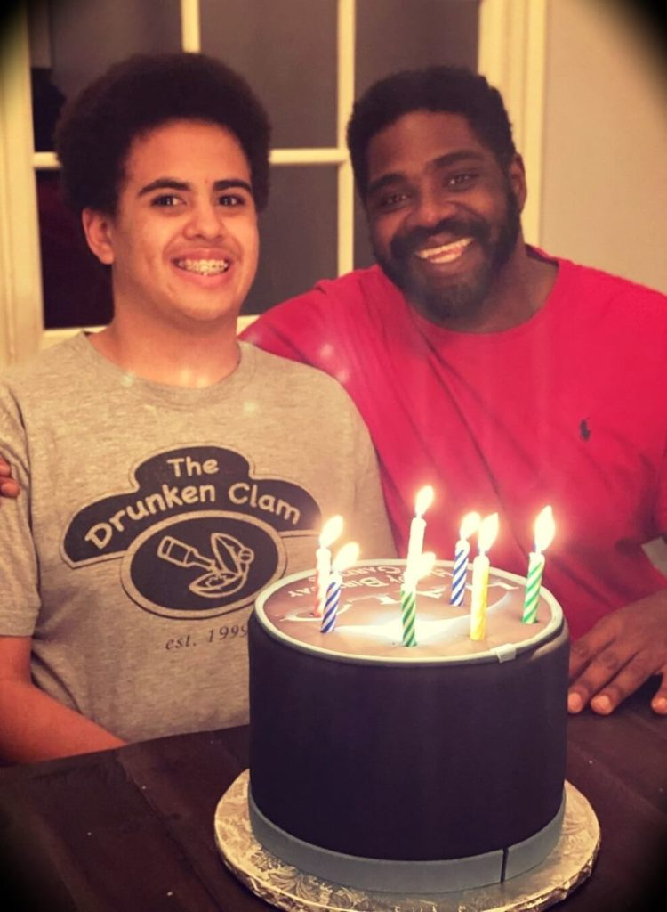 Ron Funches in his son's 17th birthday