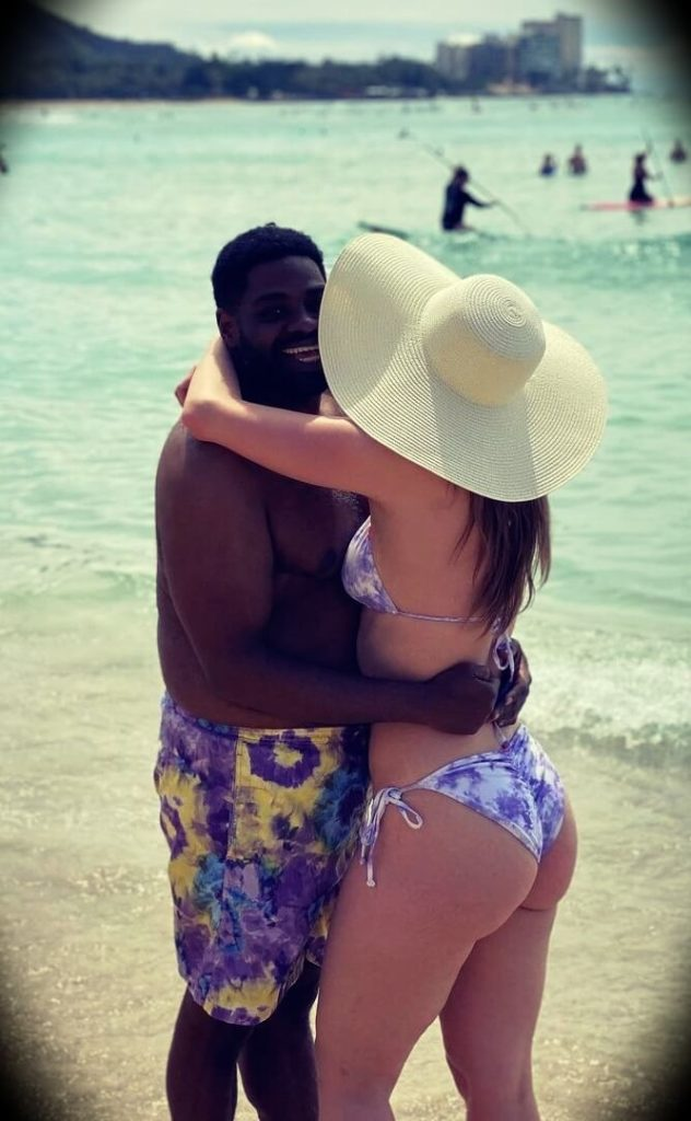 Ron Funches with his wife Christina Funches