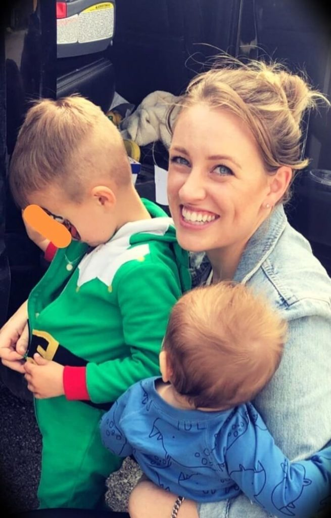 Ryan Holiday's wife Samantha Holiday with her two sons