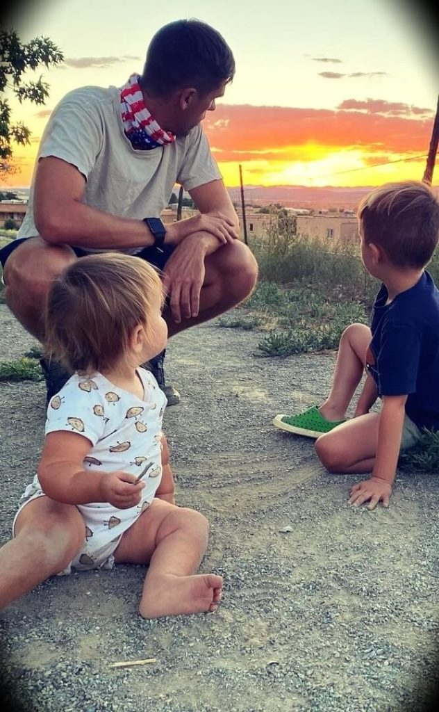 Ryan Holiday with his two sons
