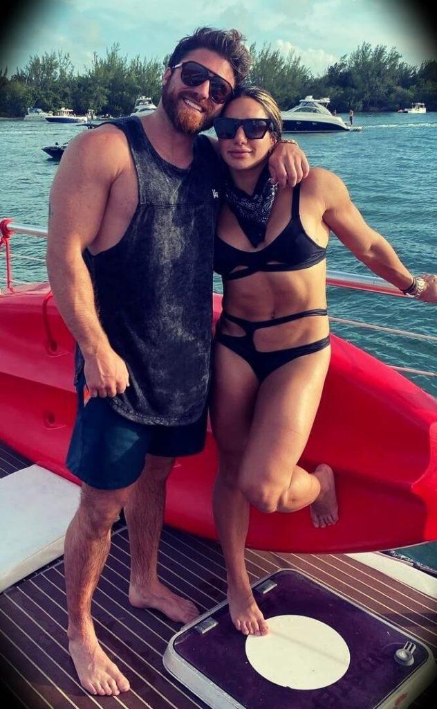 Stefanie Cohen with her boyfriend Hayden Bowe