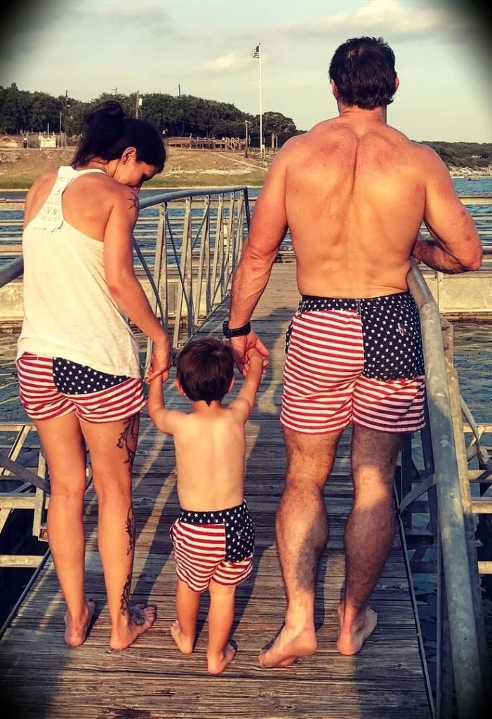 Tim Kennedy with his wife Ginger Kennedy and son