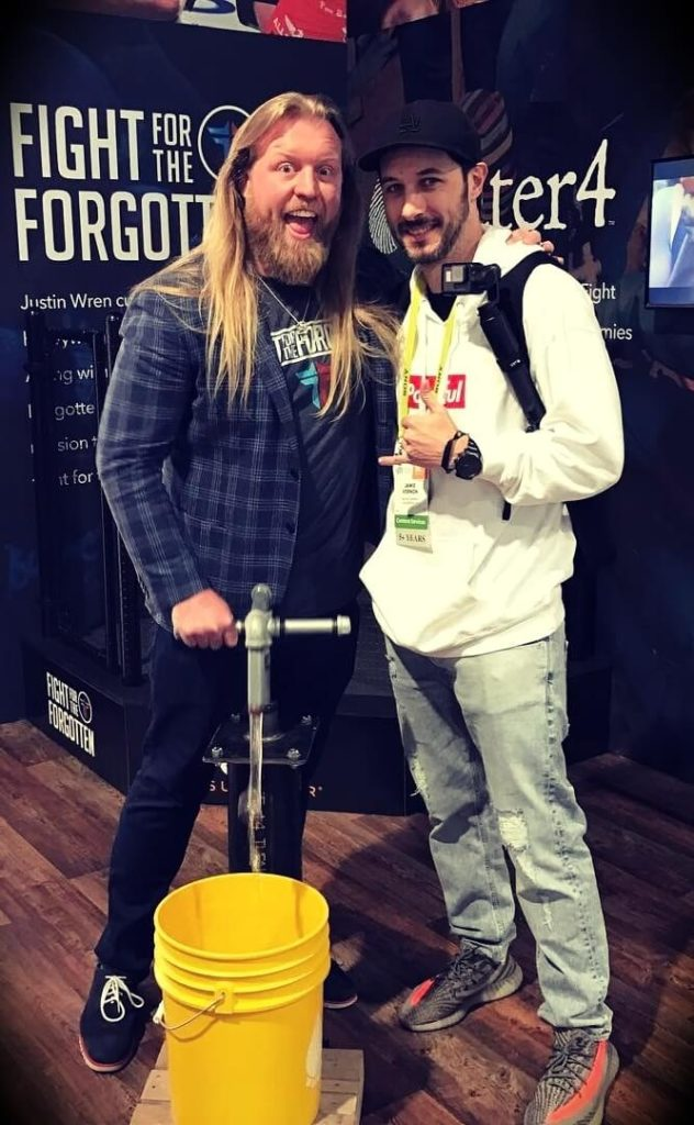 Young Jamie with  Justin Wren