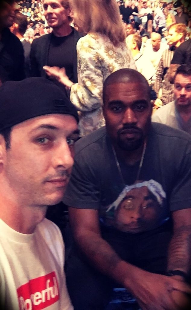 Young Jamie with Kanye West