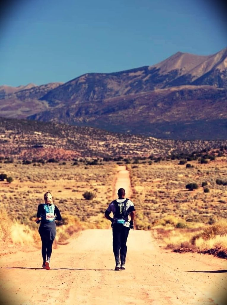 David Goggins running with his fiancée