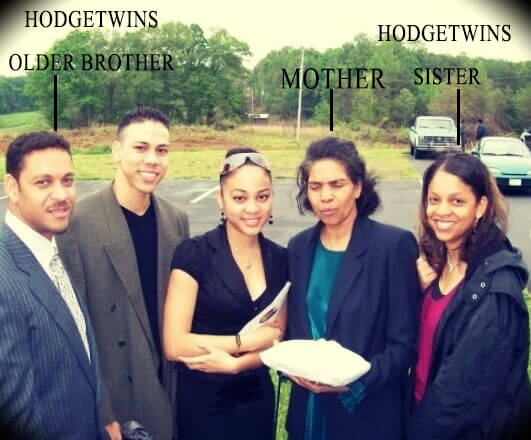 The Hodgetwins' mother and brother and sister