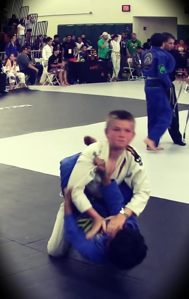Here are photos of a younger version of Thor Willink winning one of his brazilian Jiu Jitsu matches