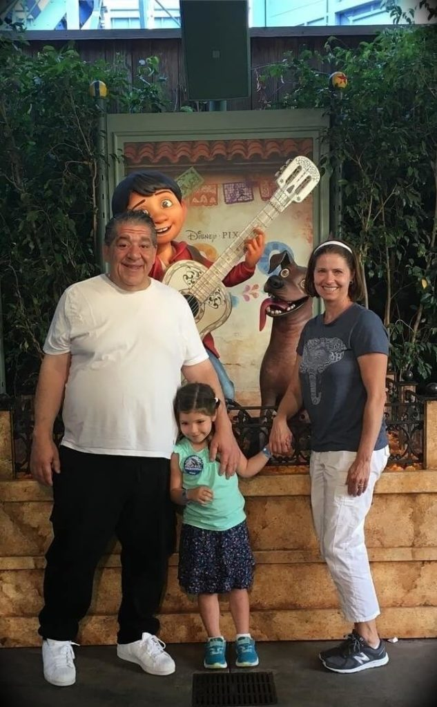 Joey Diaz with his wife Terrie Diaz and their daughter Mercy Diaz