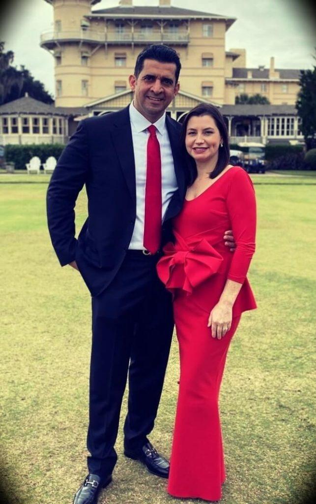 Patrick Bet-David with his wife Jennifer Bet-David
