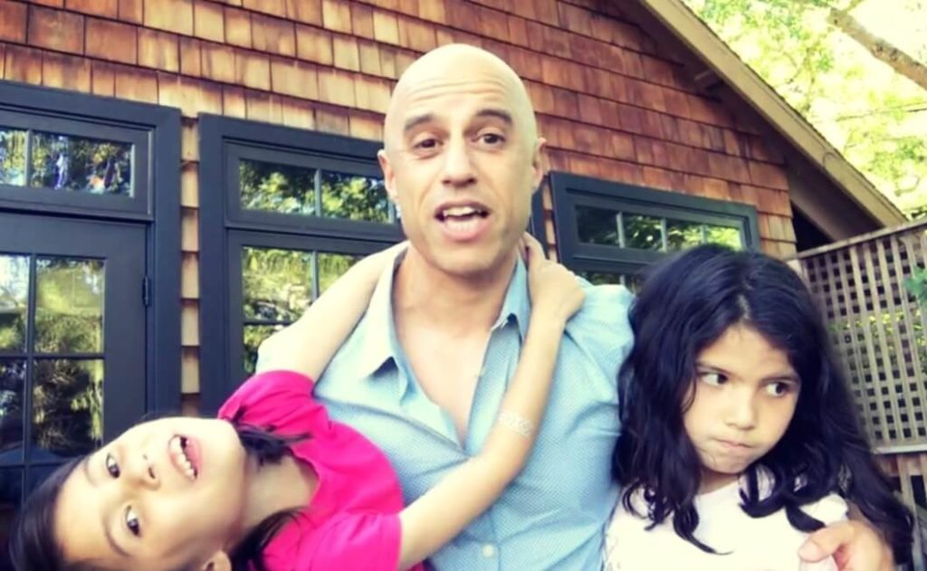 Dr. Zubin Damania with his two daughters