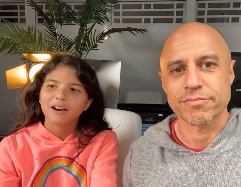 Dr. Zubin Damania with his oldest daughter