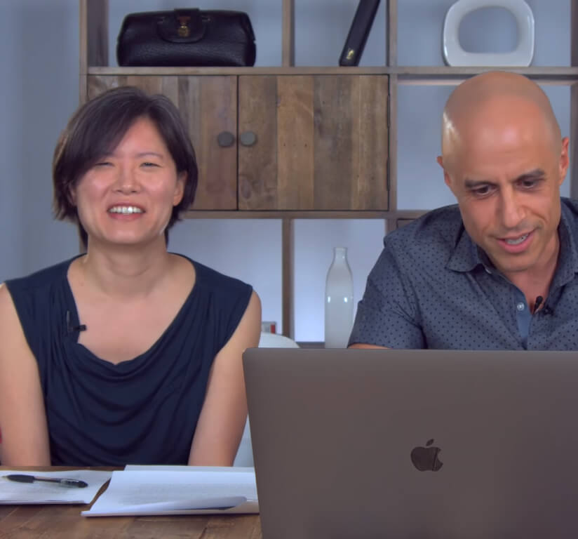 Dr. Zubin Damania with his wife Dr. Margaret Lin