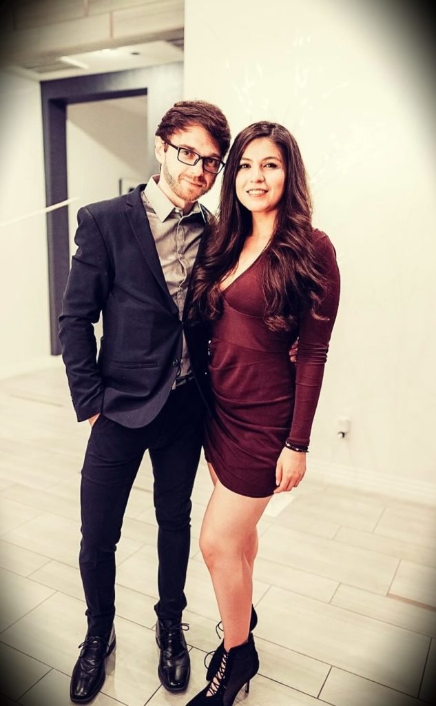 Andrei Jikh with his girlfriend Corrie O
