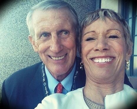 Barbara Corcoran with her husband Bill Higgins
