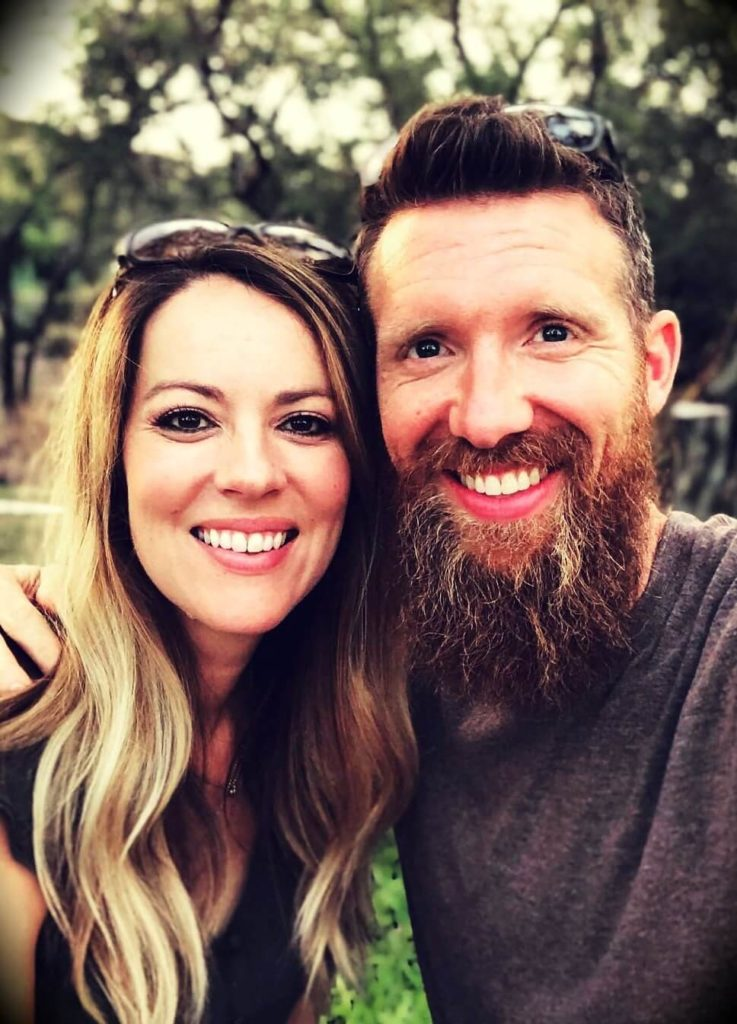 Brandon Turner with his wife Heather Turner