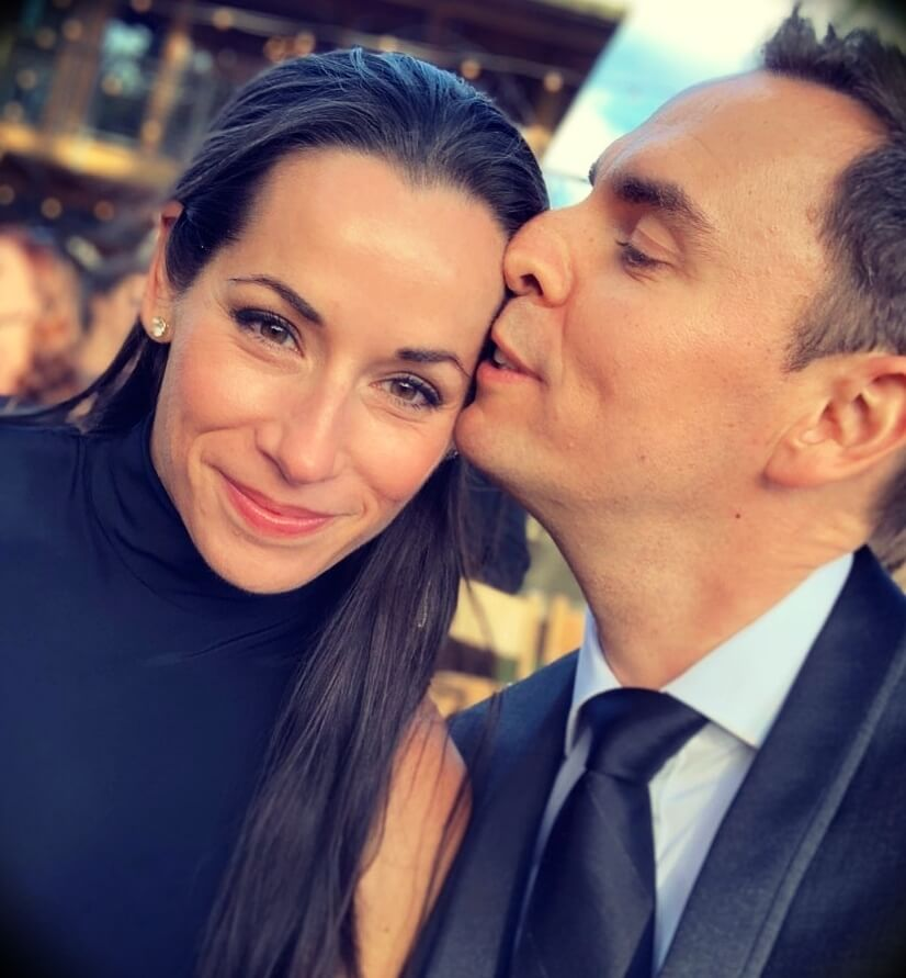 Brendon Burchard with his wife Denise Burchard