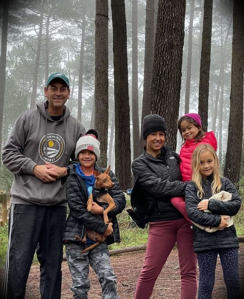 Clayton Morris with his wife Natali Morris and their three children