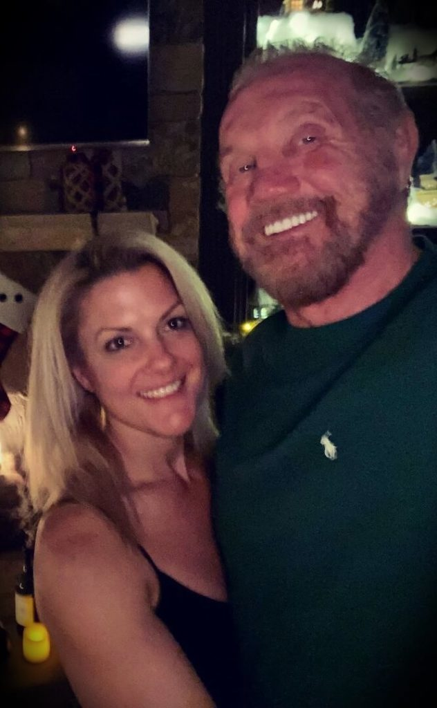Diamond Dallas Page with his girlfriend Payge McMahon