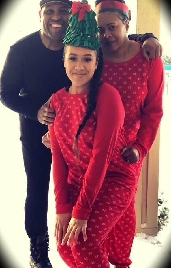 Eric Thomas with his wife De-De Mosley and their daughter Jayda
