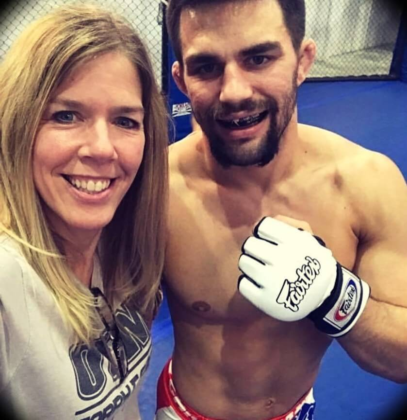 Garry Tonon with his mother