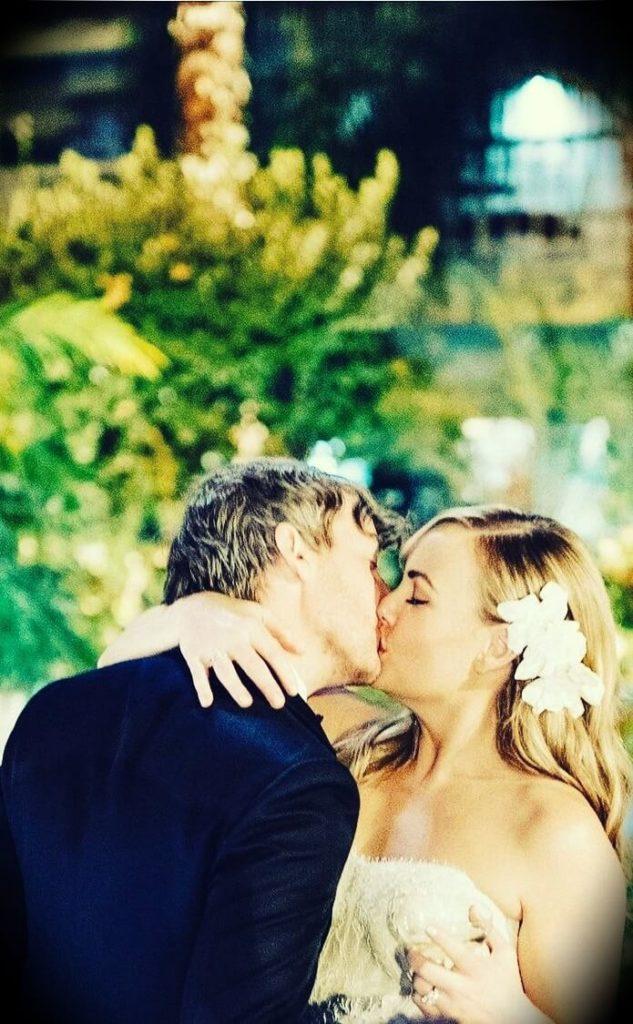 Hillary Kerr and Jonathan Leahy in their wedding