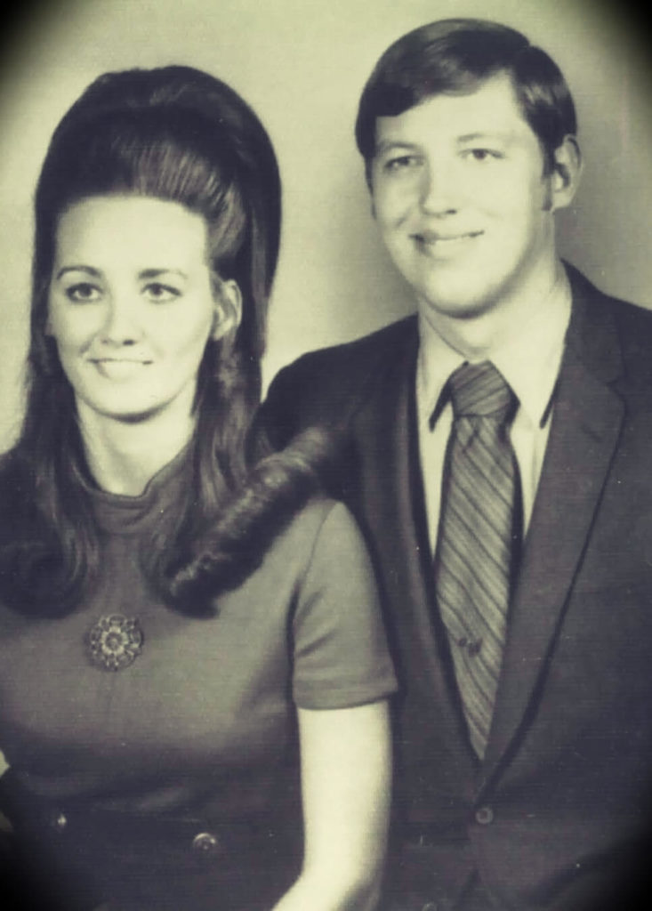 old photo of a young John C. Maxwell and Margaret Maxwell