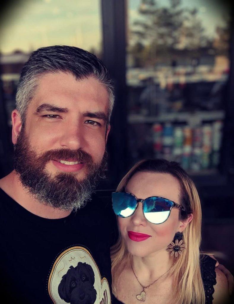 Luke Thomas with his wife
