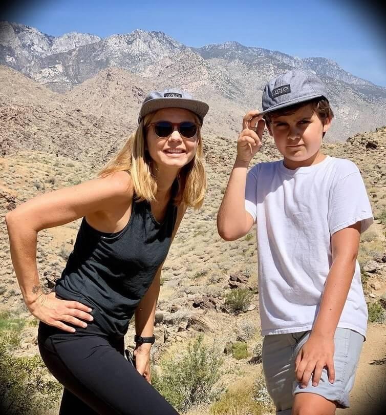 Mariana Van Zeller with her son Vasco