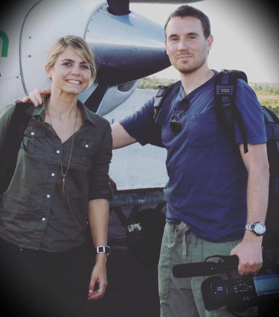 Mariana Van Zeller with her husband  Darren Foster