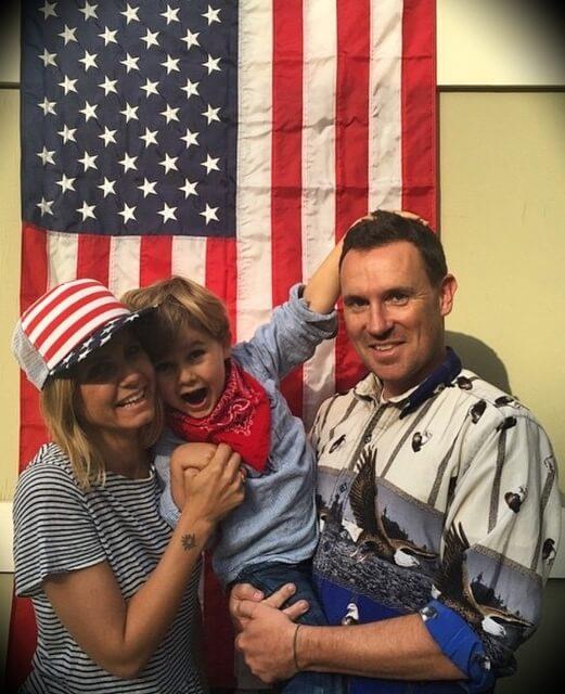 Mariana Van Zeller with her husband Darren Foster and their son Vasco