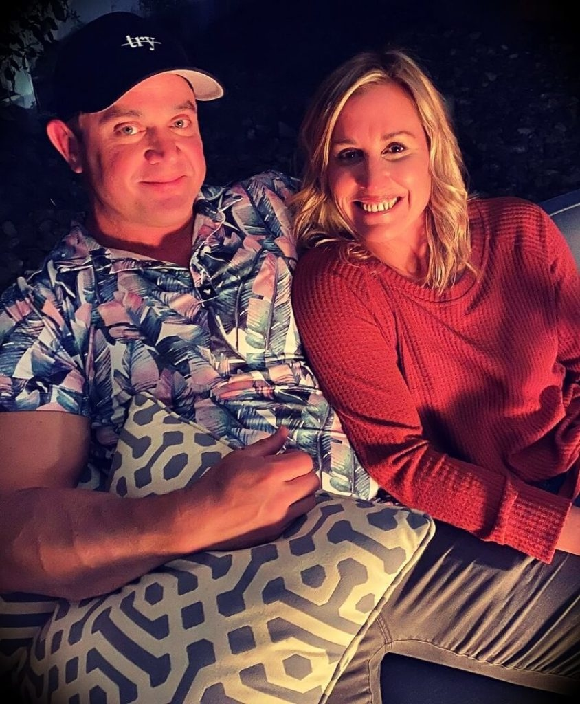 Mark Bell with his wife Andee Greves Bell