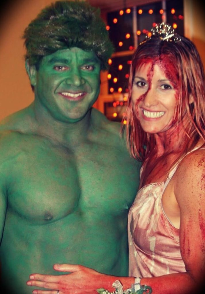 Mark Bell with his wife Andee Greves Bell in Halloween