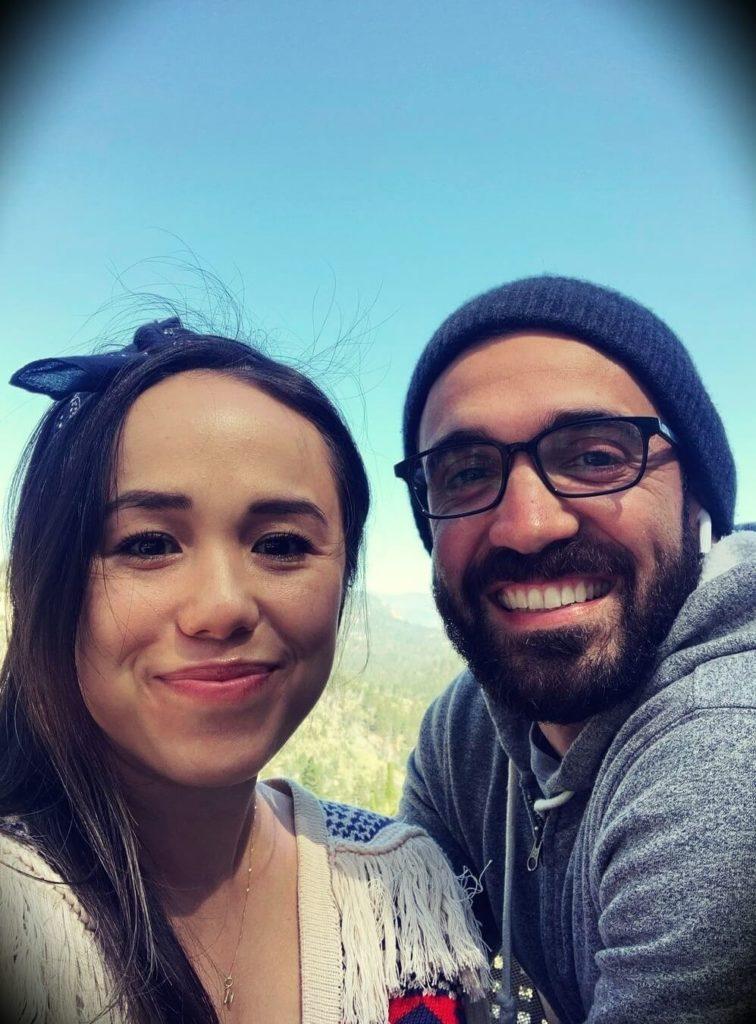 Matt D'Avella with his wife Natalie Pidding