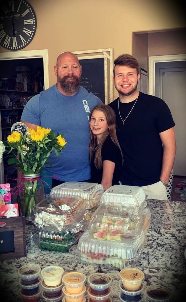 Nick Best with his two children