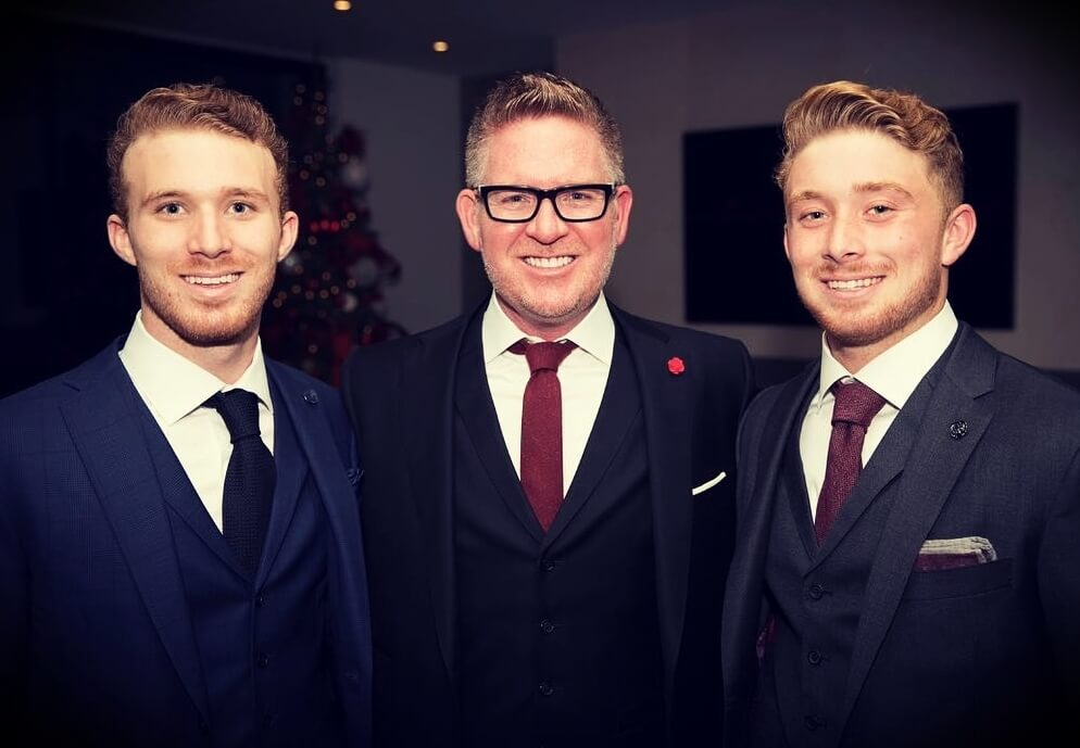 Tom Ferry with his sons Steven and Michael