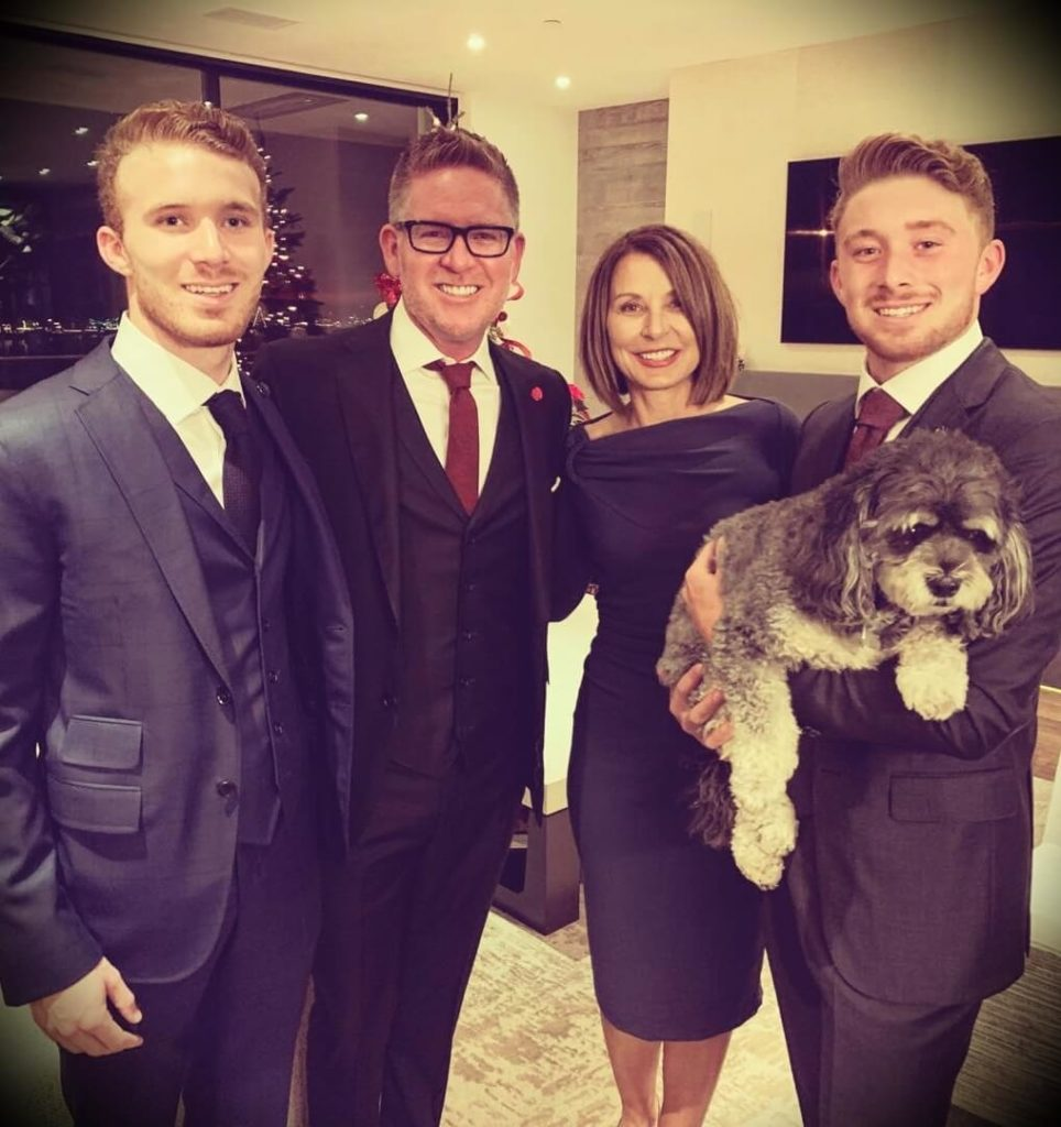 Tom Ferry with his wife and their sons Steven and Michael