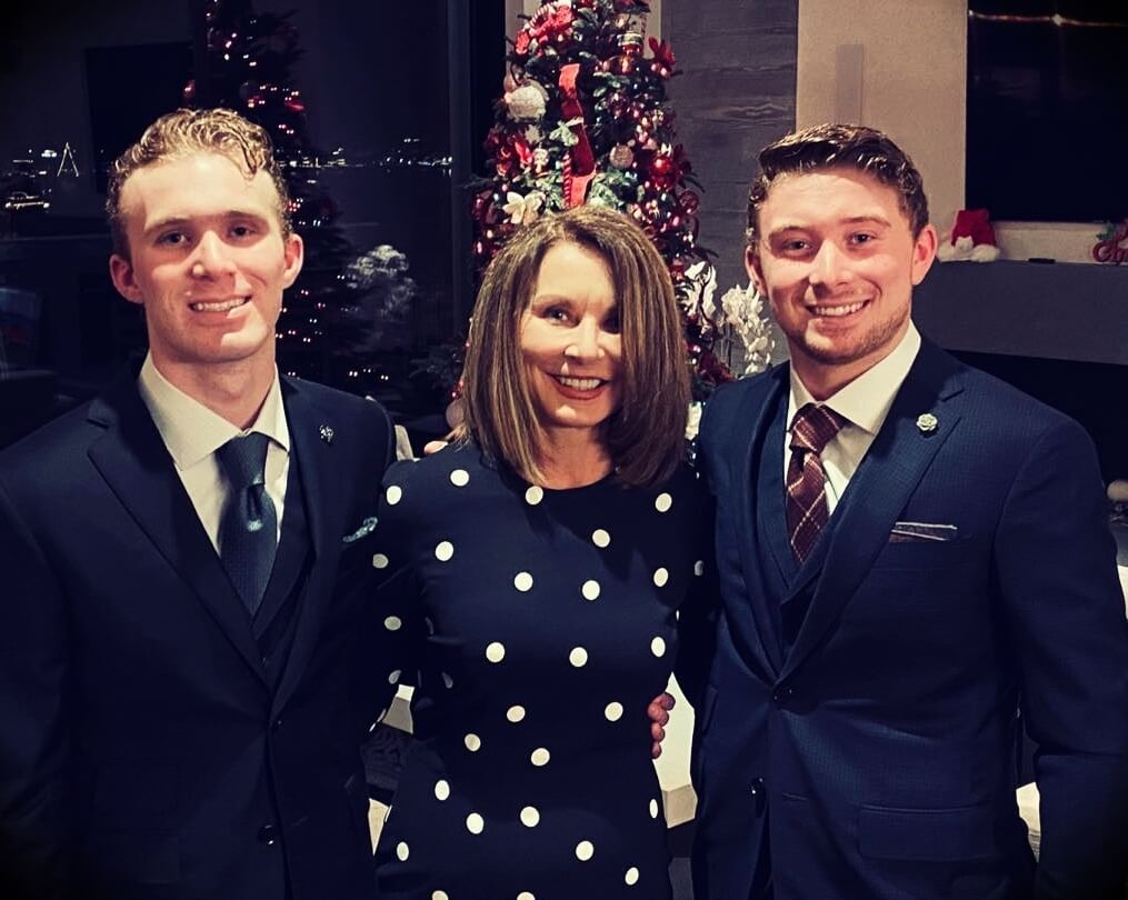 Tom Ferry's wife Kathy Ferry and their sons Steven and Michael