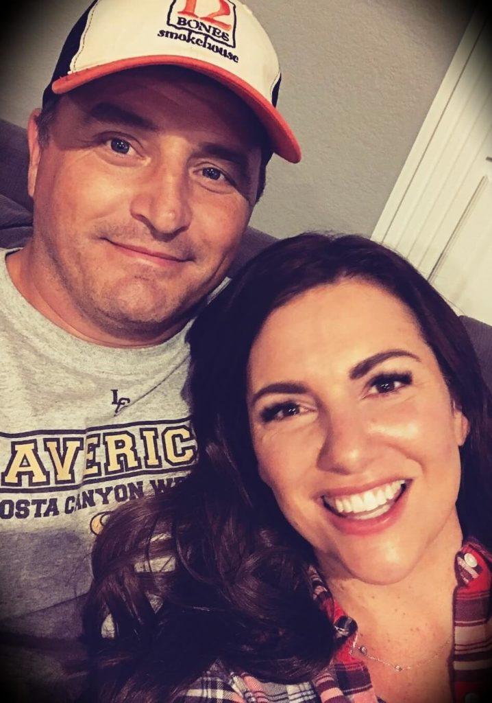 Amy Porterfield with her husband Hobie Porterfield