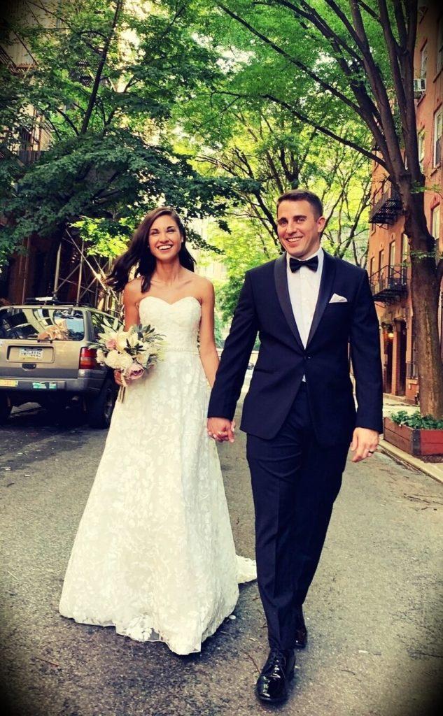 Anthony Pompliano and Polina Marinova Pompliano' s wedding in 2020