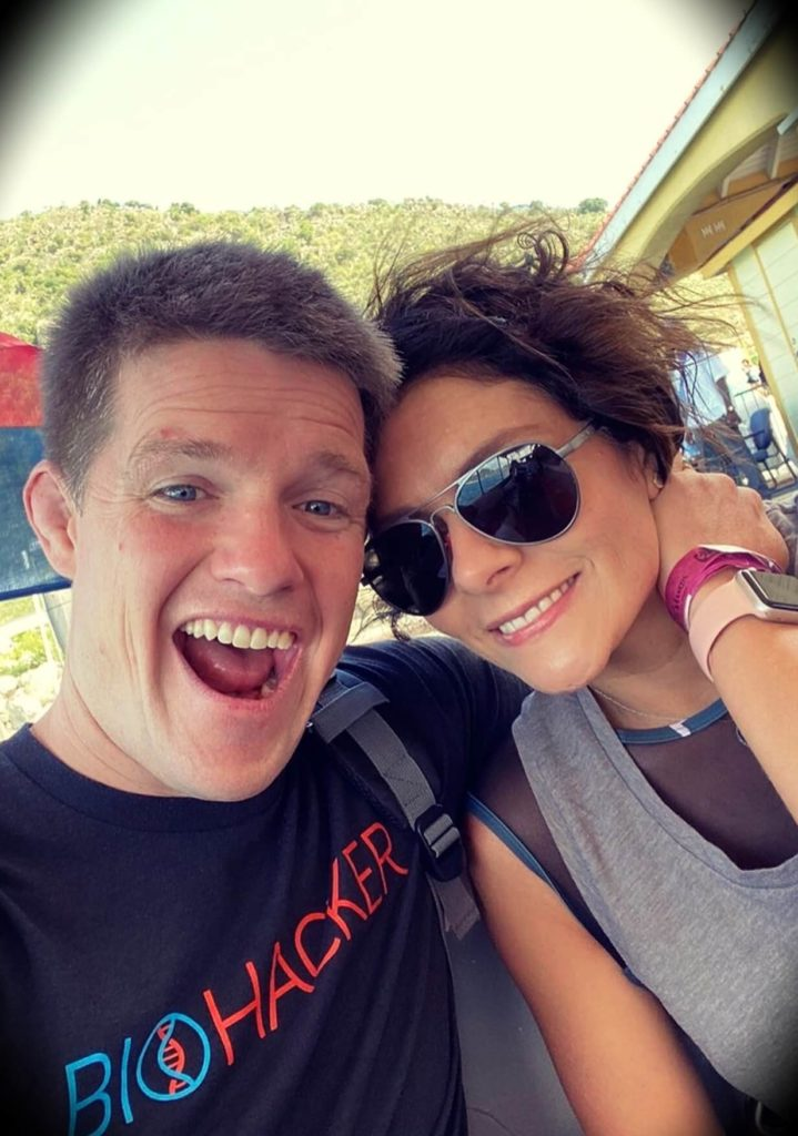 Russell Brunson with his wife Collette Brunson