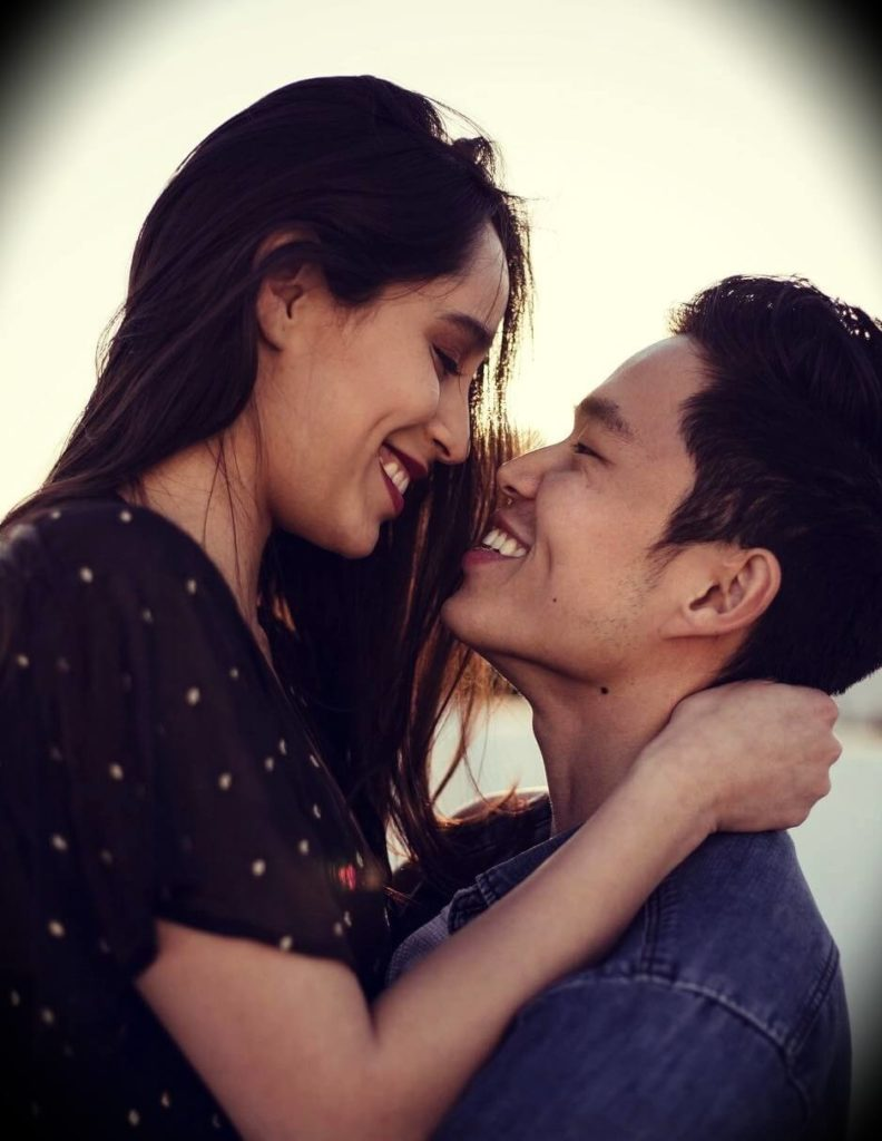 Charlie Chang with his girlfriend Jasmin Carrasco