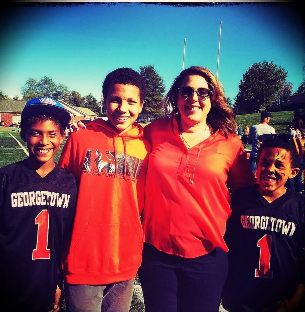Chris Hogan's wife Melissa Hogan and their three sons