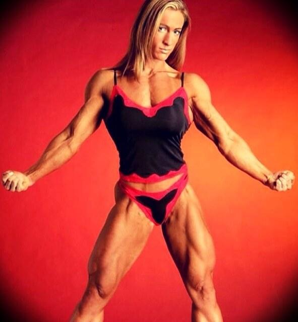 Dave Palumbo's wife Amanda Palumbo competing in bodybuilding
